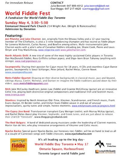 World Fiddle Fest press release