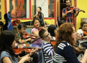 Working with El Sistema in a Parkdale school.